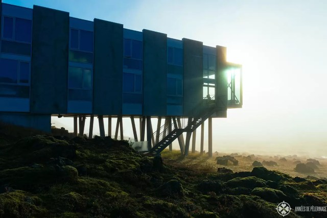 Ion Adventure Hotel in Iceland in the early morning light