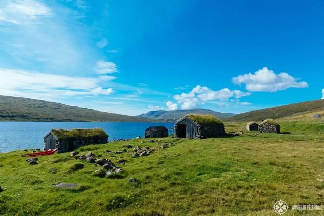 old boat houses faroe islands