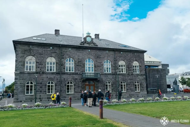 Alþingishúsið is the name of the Icelandic Parliament in the center of Reykjavik, Iceland. A must see in Reykjavik