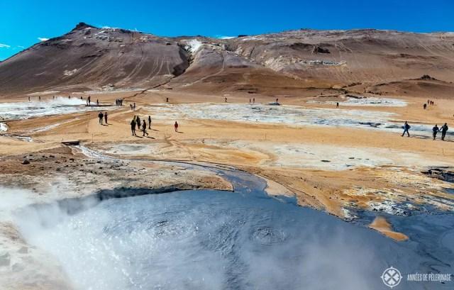 the biggest mud pool in the Hverir Lake Myvatn's geothermal area