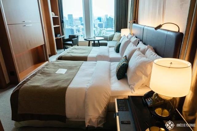 The corner suite of the St Regis luxury hotel in Osaka, Japan