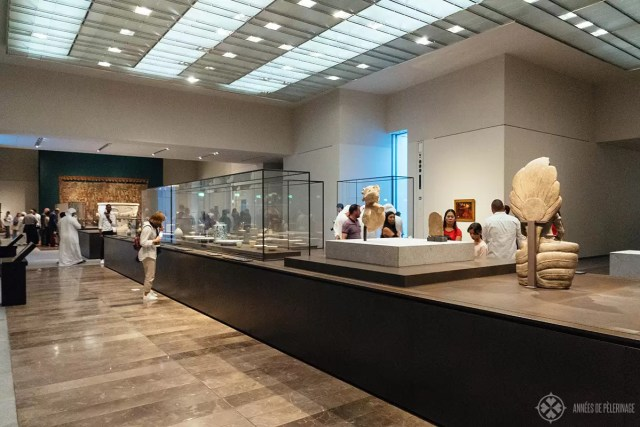 Inside the Louvre Abu Dhabi - one of the many exhibition rooms