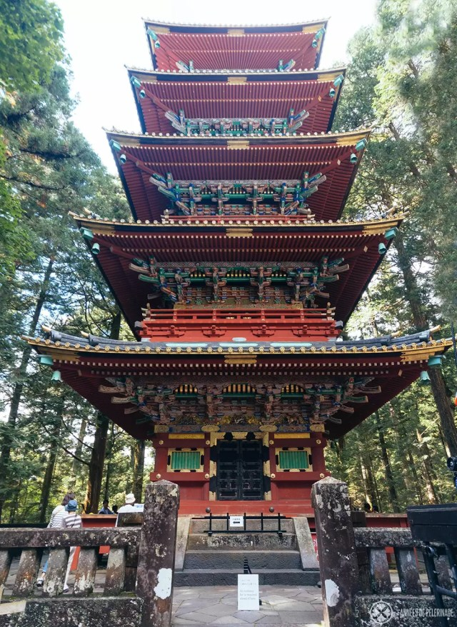 The grand Pagoda at the Toshogu Shrine in Nikko, Japan