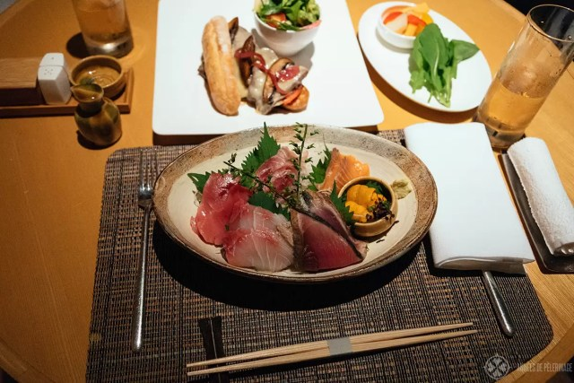 A couple of inroom dining options at the Aman Tokyo luxury hotel