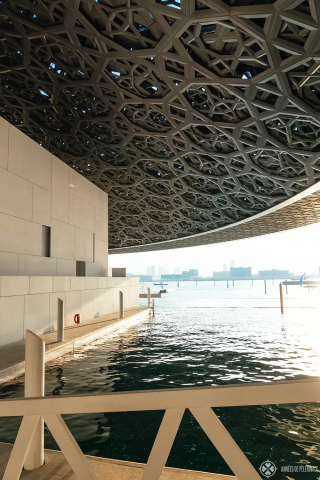 Under the gigantic dome of the Louvre Abu Dhabi