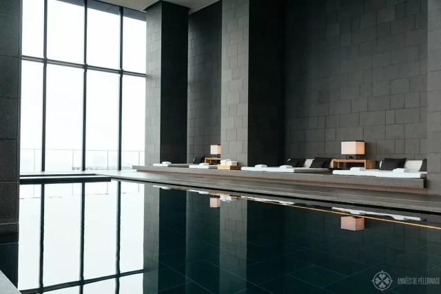 loung at the spa of the aman tokyo