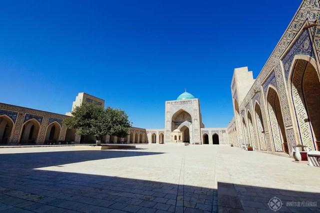 courtyard of the Kalan mosque bukhara uzbekistan