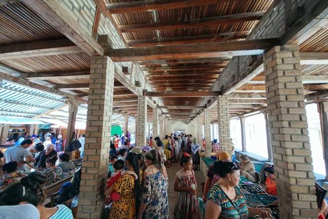 The gold market in bukhara uzbekistan