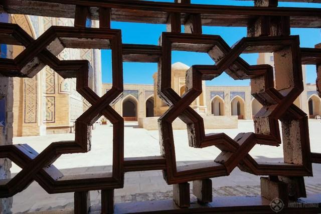 grillwork details kalan mosque bukhara uzbekistan