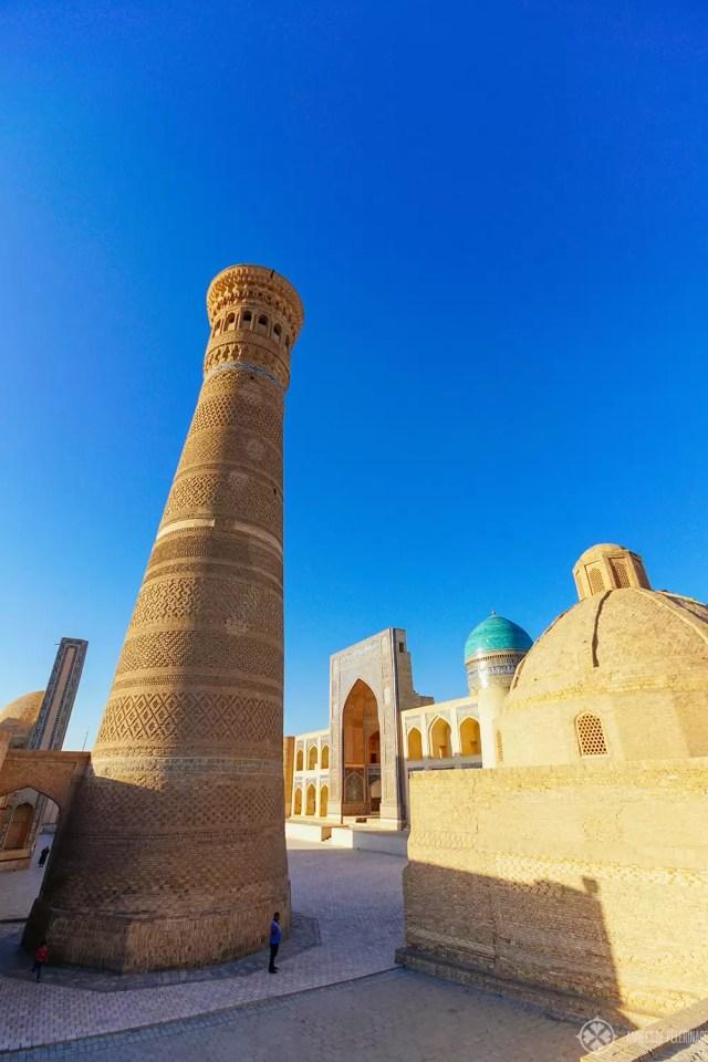 kalan minaret bukhara uzbekistan