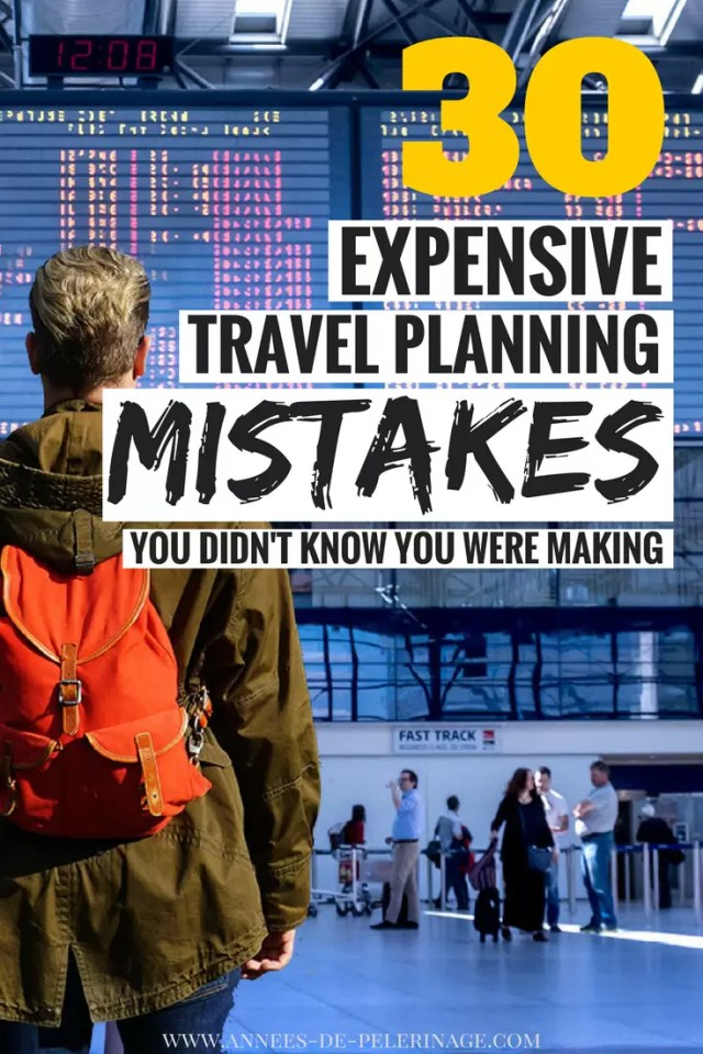 A massive list of expensive travel mistakes you didn't know you were making and how to avoid them. Plan your intinerary and avoid tourist scams and mistakes for your perfect trip. Travel longer, cheaper, better with this travel guide. click for more #travel #guide #save