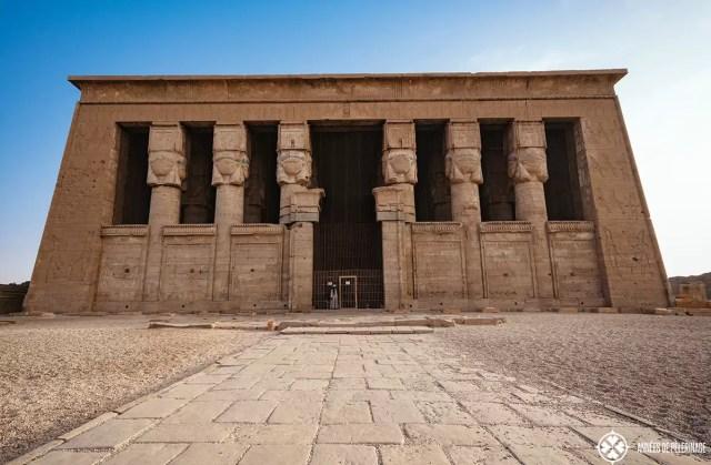 Main hall of the dendera Temple, Egypt