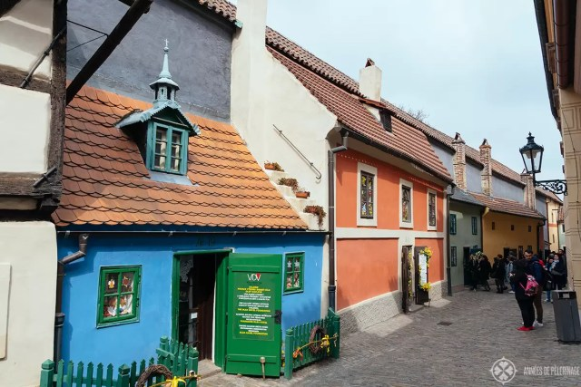 The tiny houses of the Golden Lane inside Prague Castle - Czech republic