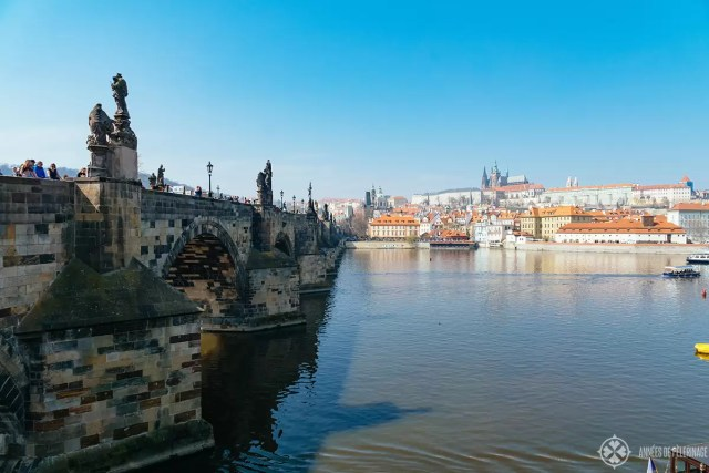 prague castle and charles bridge - czech republic