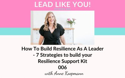 006. How To Build Resilience As A Leader – 7 Strategies to build your Resilience Support Kit