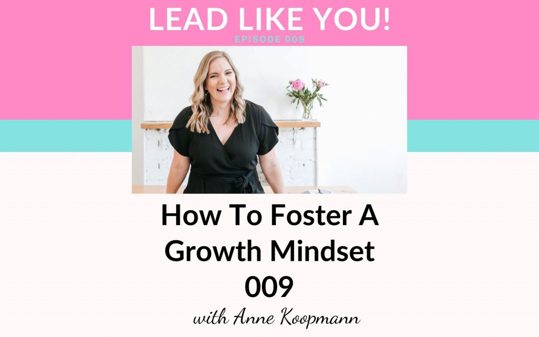 009. How To Foster A Growth Mindset