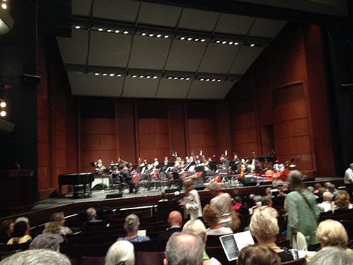 Intermission at the Makana HPU Symphony Concert in Castle Theatre, Maui, April 2014
