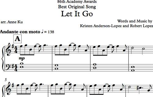 Let It Go arranged for Easy Piano