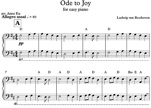 Ode To Joy Easy Piano Flash Mob Concert Blog