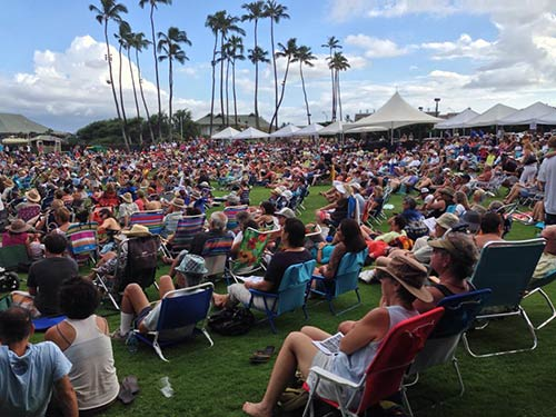 The Annual Ukulele Festival in Maui, October 2013 free to all.