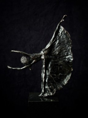 Ballerina bronze black patinated