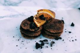 Glutenvrije chocoladekoekjes met sinaasappel