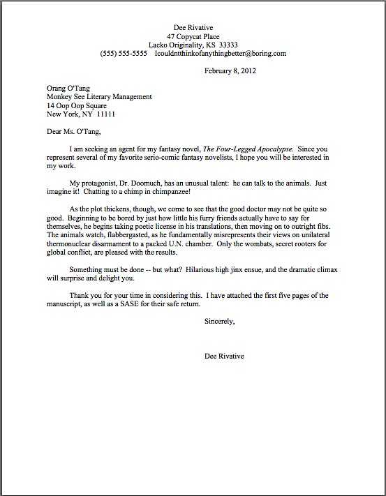 How To Write A Query Letter Step By