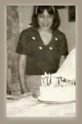 Peggy and her cake