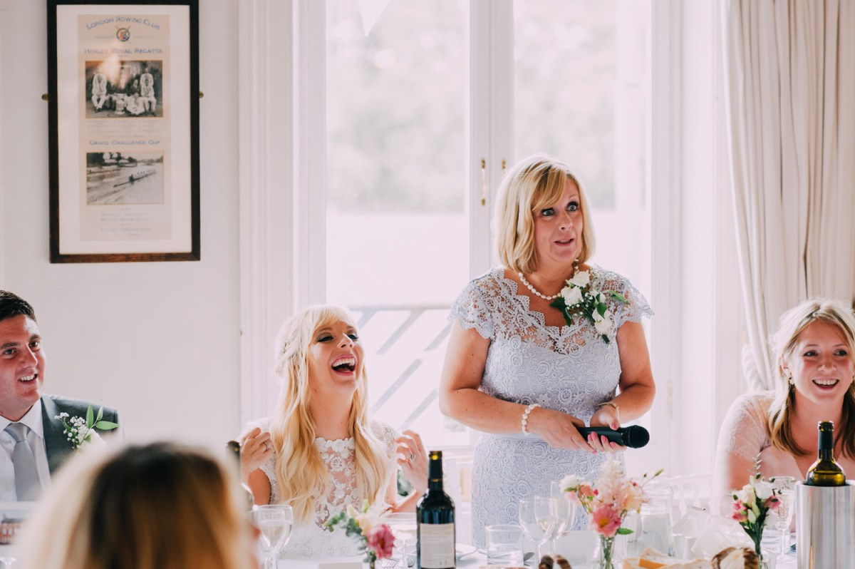 mother of bride speech at london rowing club wedding