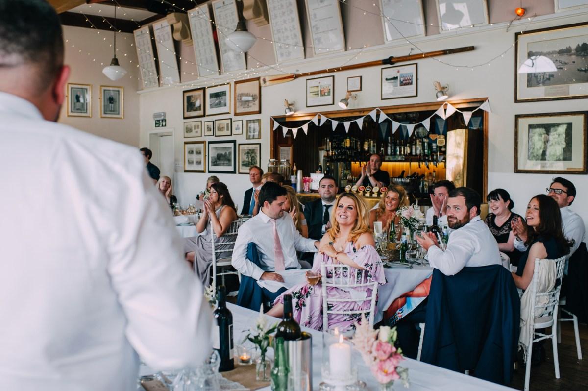 groom speech at london rowing club wedding