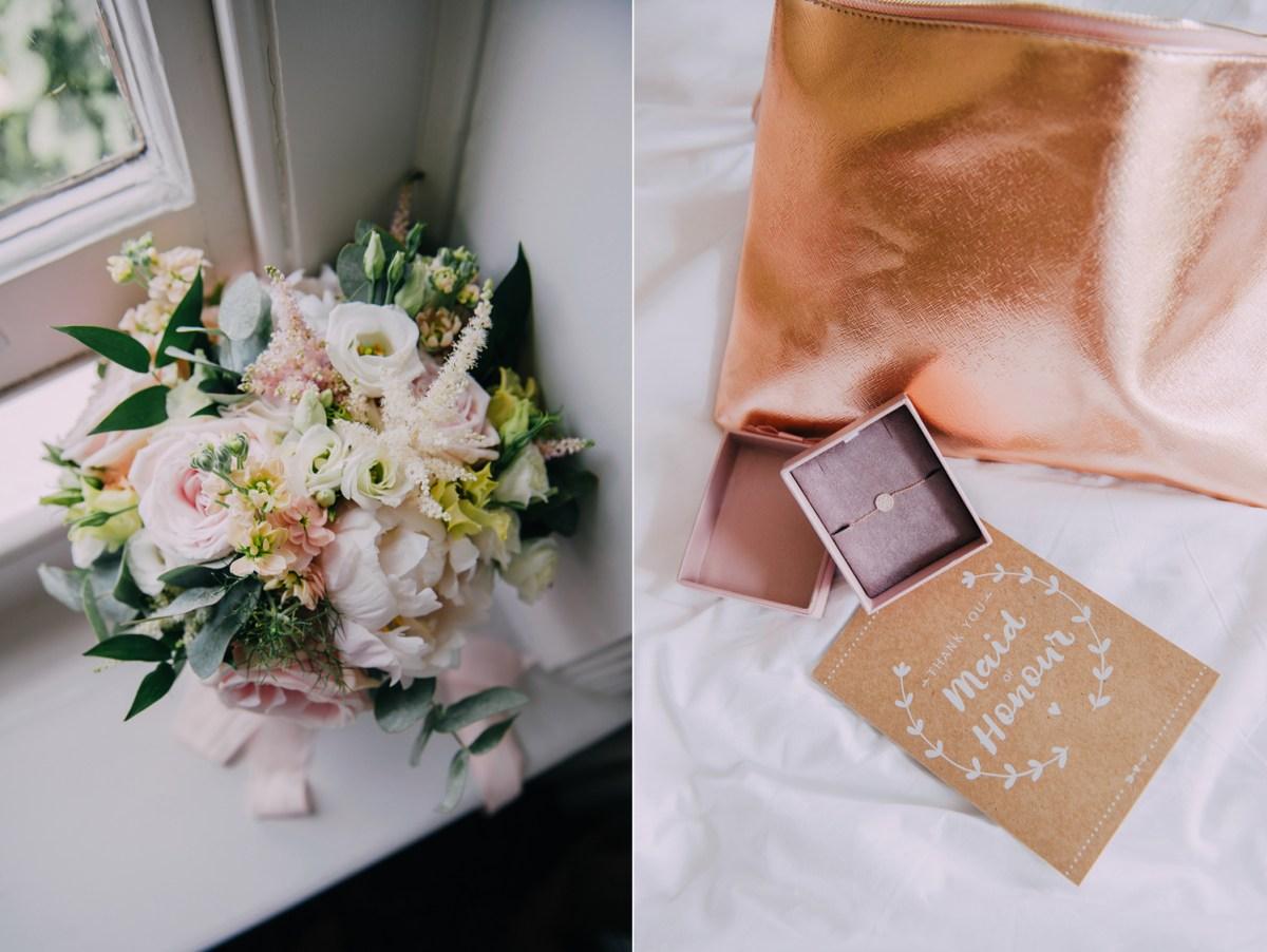 bridesmaids gifts stationary pastel kraft paper