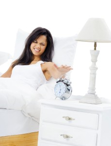 Woman unhappy to get out of bed
