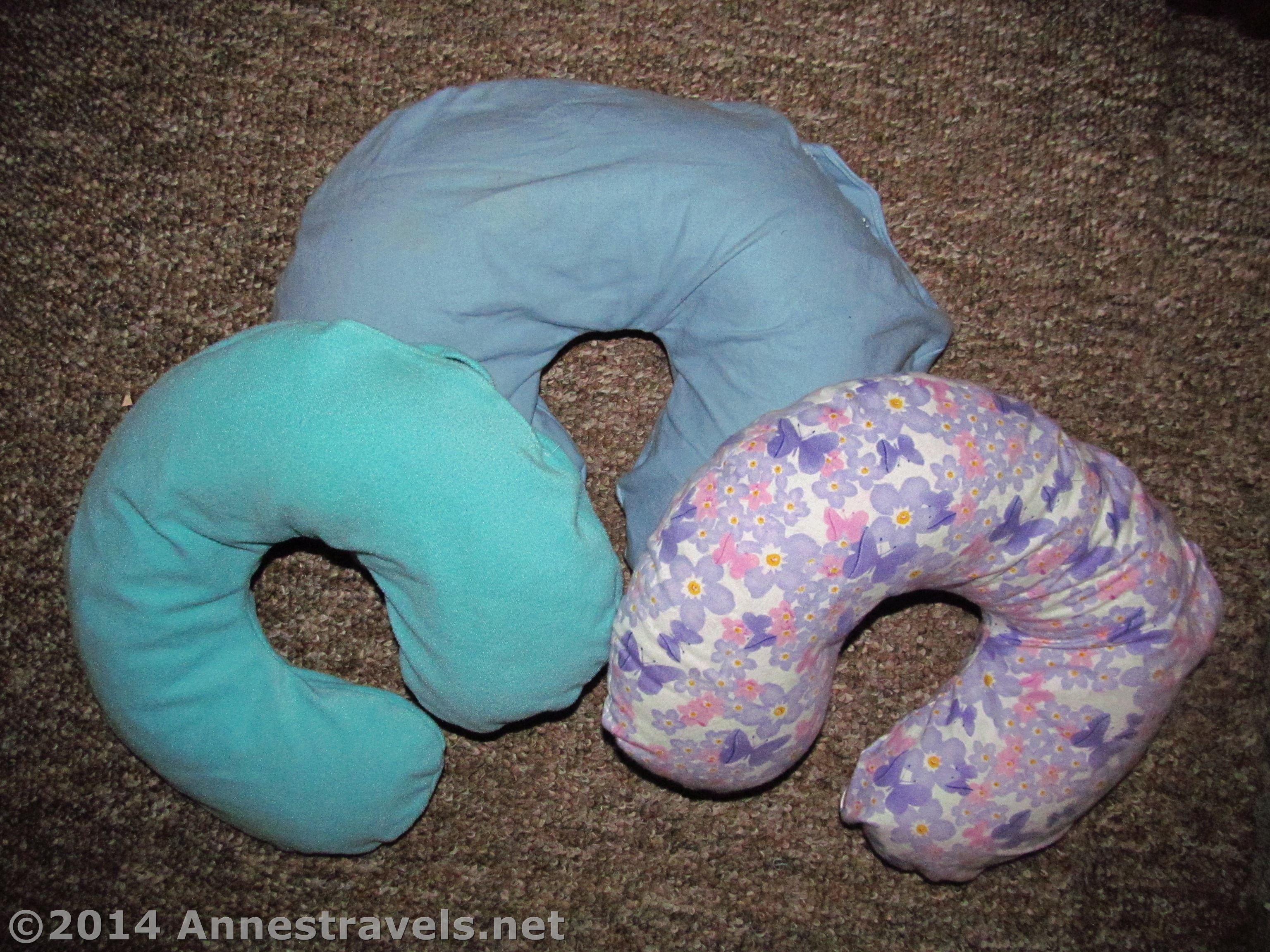 diy adult travel neck pillow with