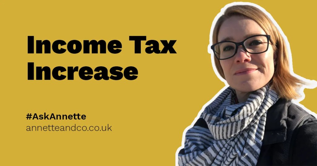 a featured blog image that highlights the topic on income tax increase