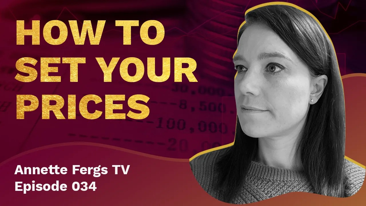 a blog featured image banner entitled how to set your prices