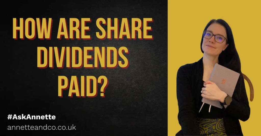 a blog featured image entitled How are share dividends paid