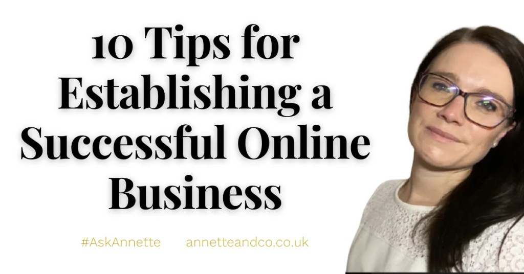 a blog featured image entitled 10 Tips for Establishing a Successful Online Business