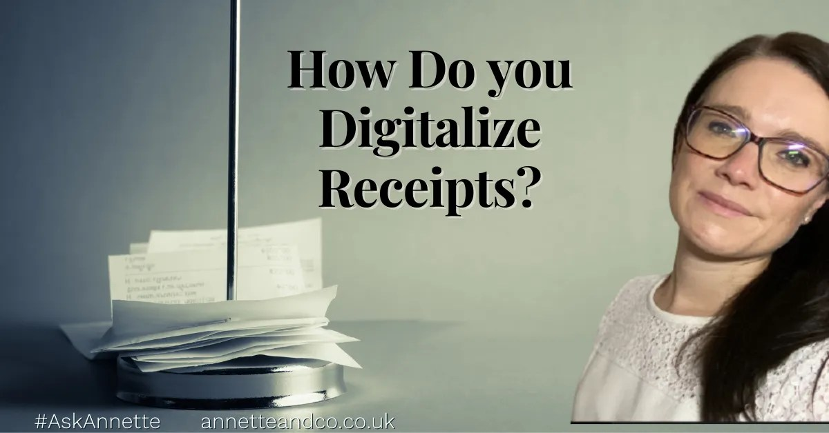a blog featured image entitled how do you digitalize receipts in easy steps