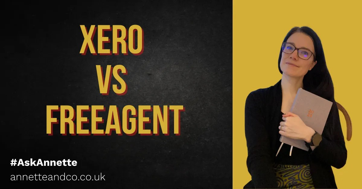 a blog featured image with a topic about Xero vs FreeAgent