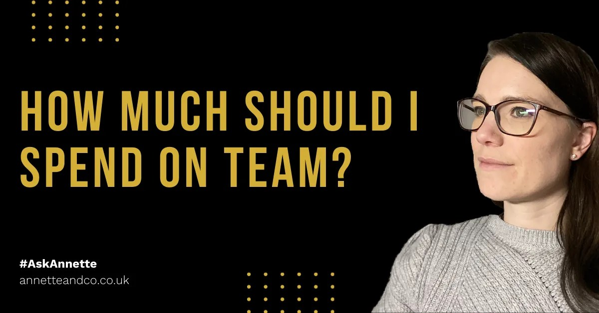 a blog featured image entitled How Much Should I Spend On Team?
