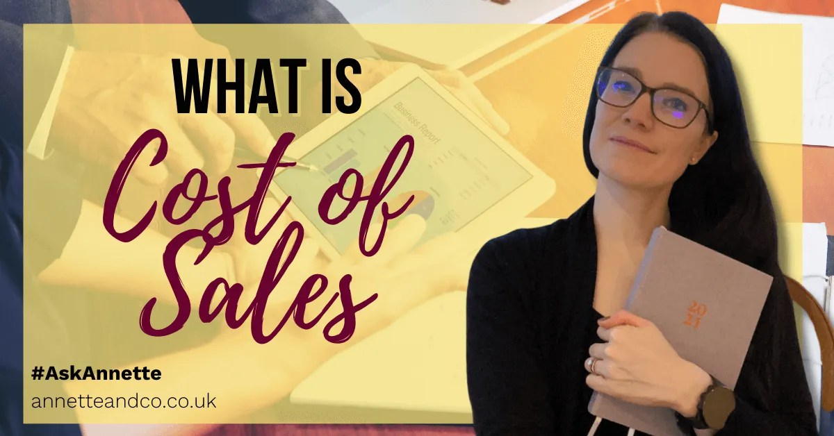 a blog featured image with a topic title about What Is Cost of Sales?