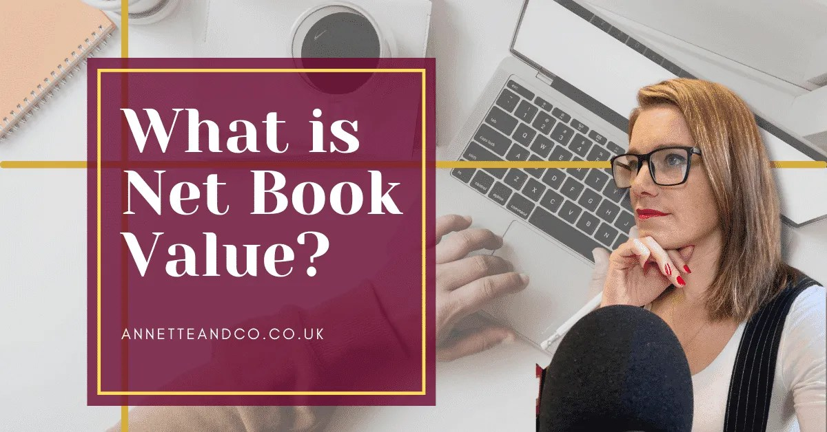 a blog featured image with a topic title about What is Net Book Value?