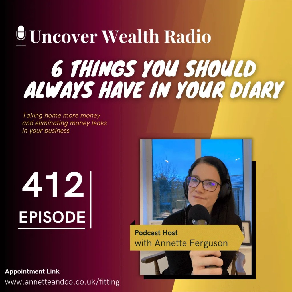 Annette Ferguson Podcast Banner of Uncover Wealth Radio Episode 412