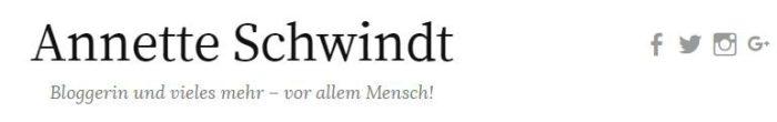 Social Icons auf annetteschwindt.de