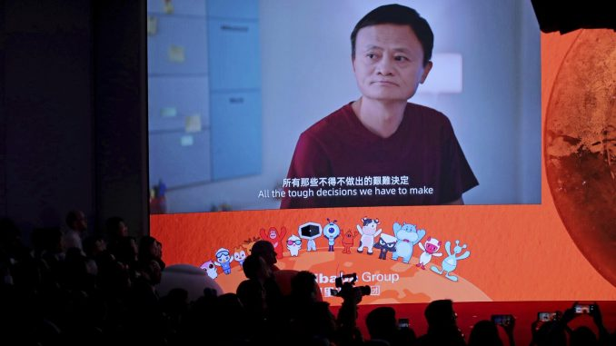 E-commerce giant Alibaba's shares jump 8% in Hong Kong debut