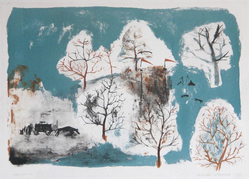 Original Lithograph from: Lecture par Henri Michaux de huit lithographies de Zao Wou-ki by Zao Wou-Ki