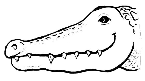 Alligator annex theatre for Easy to draw crocodile