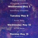 Research & Development Wing Schedule