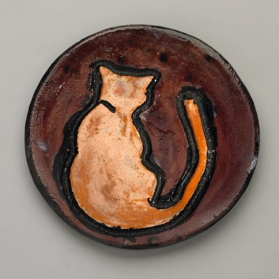 Cat's Back Ceramic Plate