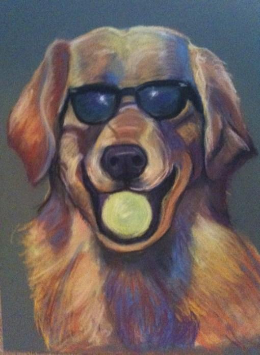 Got Balls? Golden Retriever with Tennis Ball